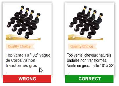 Improve yiur french translations to best quality